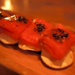 11. El Willy Explosive Balik salmon with truffled honey and sour cream