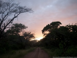 Sunset at Ndumo.